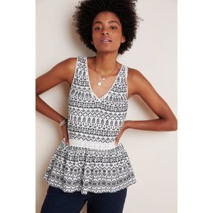 FREE SHIP   Anthropologie   NWT Embroidered Top